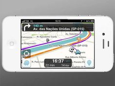 Disponível gratuitamente para Android e iOS, o aplicativo de mapas Waze ganhou uma atualização que mostra onde estão os amigos do usuário - quem não quer ser localizado, pode ficar invisível. O uso do app vem crescendo bastante, especialmente depois dos problemas com os mapas do iOS 6 - veja outras funcionalidades incríveis e um vídeo do app na Exame, por Maurício Grego.