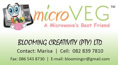 BUSINESS CARD >> MicroVeg in association with Blooming Creativity (Nelspruit) created by Design so Fine