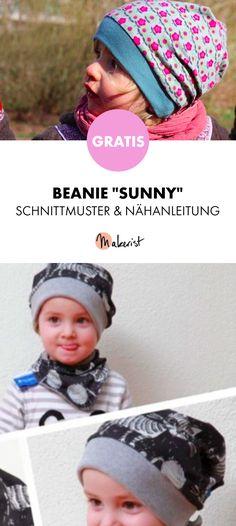 Gratis Anleitung: Beanie für Kinder - Schnittmuster und Nähanleitung via Makerist.de