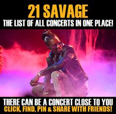 21 Savage in your city! Concerts dates & tickets. #music, #show, #concerts, #events, #tickets, #21 Savage, #rock, #tix, #songs, #festival, #artists, #musicians, #popular,  21 Savage