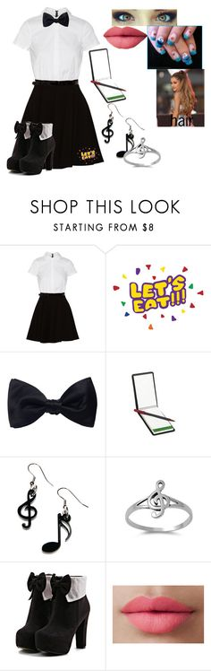 """Untitled #580"" by ultimatefangirl-459 ❤ liked on Polyvore featuring Alice + Olivia, Ike Behar, Tatty Devine and LORAC"