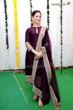 Tamanna Hot Images, Churidhar Designs, Indian Designer Suits, Kurti Neck Designs, Ethnic Outfits, Malayalam Actress, Tamil Actress Photos, Anarkali Dress, Beautiful Indian Actress
