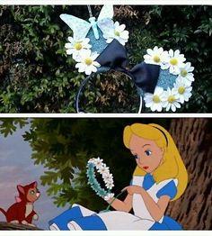 Floral minnie mouse ears alice in wonderland princess belle frozen elsa
