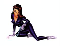 Talia from Batman Adventures by Bruce Timm//Pinups - color/DC/Bruce Timm/ Comic Art Community GALLERY OF COMIC ART