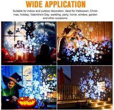 Projecteur De Lumière LED Pour Le Jardin de Noël – French Lovley Gifts Lampe Decoration, Indoor, Valentines, Halloween, Mini, Holiday, Party, Wedding, Painting