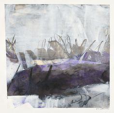 "karendarling: ""'Whisk Me Away'- oil and cold wax on stone paper- Karen Darling """