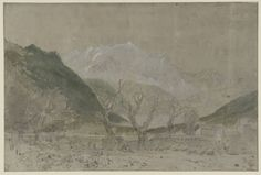 """Mont Blanc, from Sallanches, 1802. Joseph Mallord William Turner. Сlicking on the """"image"""" - see full size"""
