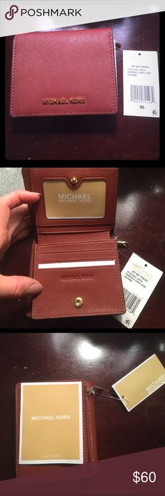 🌹PRICE DROP🌹NWT Authentic Michael Kors Wallet 🌹 NWT. color:brick. authentic, was a Christmas gift, but I prefer the larger sized wallets. MICHAEL Michael Kors Bags Wallets
