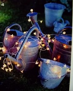 Watering Cans + Lights