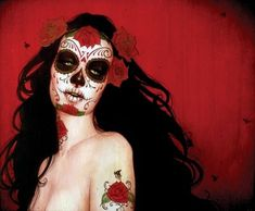 day of the dead & roses