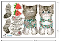 I am an illustrator from South Korea.  I draw cats dressed in pretty clothes. My paintings are then printed on quality linen fabrics.  This listing is
