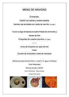 Menú para estas Navidades. #restaurantelatartana #comidaempresa #comidafamiliar