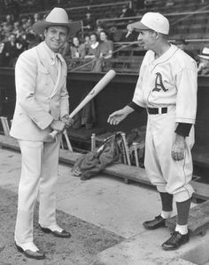 Gene autry  images on tumblr | Gene Autry with Philadelphia A's Player c.1940