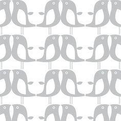 Isak Wallpaper Penguin Silver