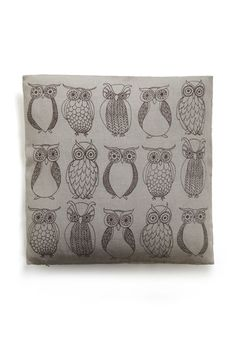 Owl the Better Pillow, #ModCloth. Gwyn would love this.