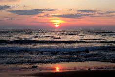 Sunset from Agios Gordios Beach, Corfu, Greece