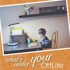 """""""Funny how a little change can be so motivating. This lamp uses a """"healthy"""" light that doesn't hurt your eyes. It also has a light up base that can be a lot of different colors, and has a USB port for convenient phone charging!"""" -@littleprinceleopold What's under your OttLite? Tag us or hashtag #WhatsUnderYourOttLite for a chance to be featured! #WUYO #Lighting #Motherhood #Study #Vision #HealthyEyes #EyeHealth #Eyes Cool Desk Chairs, Sewing Desk, Glass Desk, Led Desk Lamp, Light Crafts, Desk Light, Colorful Furniture, Pottery Barn Kids"""