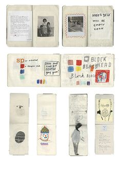 sketchbooks by rose blake, via Flickr