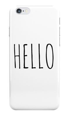 Our Hello - Tumblr Phone Case is available online now for just £5.99.    Check out our super cute Hello - Tumblr phone case, available for iPhone, iPod & Samsung models.    Material: Plastic, Production Method: Printed, Weight: 28g, Thickness: 12mm, Colour Sides: White, Compatible With: iPhone 4/4s | iPhone 5/5s/SE | iPhone 5c | iPhone 6/6s | iPhone 7 | iPod 4th/5th Generation | Galaxy S4 | Galaxy S5 | Galaxy S6 | Galaxy S6 Edge | Galaxy S7 | Galaxy S7 Edge | Galaxy S8 | Galaxy S8+ | Galaxy