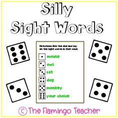 Primary students will have fun reading their sight words in silly voices!