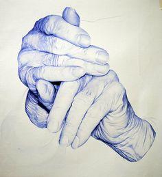 Bic Pen hands's