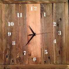 Wall Clock (recycled wood pallets)