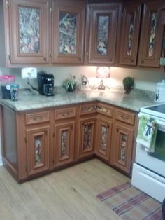 camo accents on kitchen cabinets