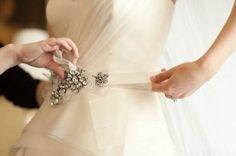 diy wedding dress sash