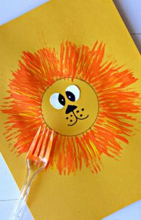"3/8/15 - ""Fork Lions"" new family devotional and craft now up on the blog! #familyministry #kids #crafts #christiancrafts"