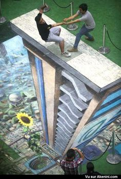 Akenini.com - Effets Optiques : Trompe l'oeil - You Have To Look At Twice To Understand