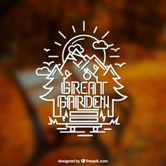 Great garden logo Free Vector
