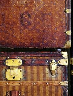 Vintage Louis Vuitton Trunks | For my office gallery wall