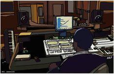 Image result for recording studio cartoon