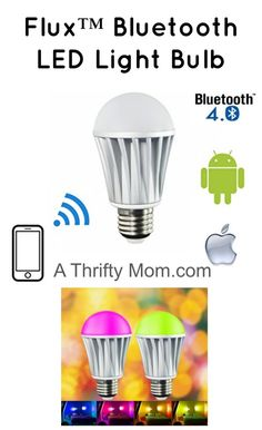 Flux Bluetooth LED Light Bulb.  What a fun idea for kids!  This could be great fun over spring or summer break - A Thrifty Mom