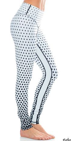 L'urv Activewear Spot Me Legging in White/Black Dot Athletic Outfits, Athletic Wear, Yoga Fashion, Fitness Fashion, Moda Fitness, Fitness Diet, Fitness Style, Modelos Fitness, Pants For Women