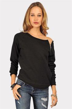Zip Zip Sweatshirt - Black