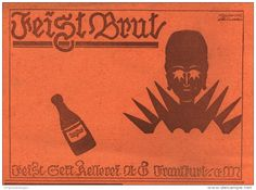 Original-Werbung/ Anzeige 1918 - FEIST CABINET BRUT SEKT-KELLEREI FRANKFURT - ca. 200 X 130 mm
