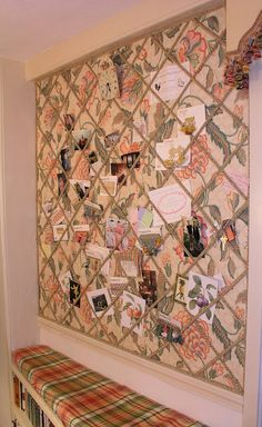 An Upholstered Bulletin Board Wall Cork Ideas For Bedroom Diy Memo