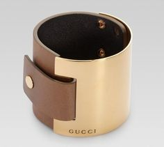 Gucci Cuff Bracelet with Metal and Leather | Reviews on Latest Gucci Handbags, Gucci Classic Products and More in Gucci 2011