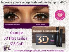 The Younique 3D Lashes Difference! Want Long, Lush, Beautiful Lashes?   Order yours today!