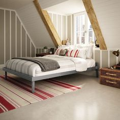 Amisco Attic Dark Brown 60-inch Queen-size Metal Bed | Overstock.com Shopping - The Best Deals on Beds