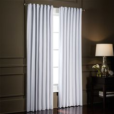 SmartBlock™ Rod Pocket Room Darkening Window Curtain Panel