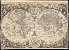 1596  Orbis terrae compendiosa descriptio ex peritissimorum totius orbis gaegraphorum operibus desumta - Antverpiae apud Joanem Baptistam Vrient - Vrients Jan Baptista