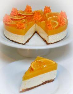 Romy's yoghurttaart met sinaasappel en perzik (zonder bakken!)