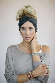 Charcoal Turban Headband