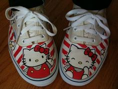 Custom 'Hello Kitty' shoes made by George by ginacide, via Flickr
