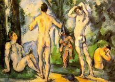Bathers Artwork By Paul Cezanne Oil Painting & Art Prints On Canvas For Sale Aix En Provence, Oil Painting On Canvas, Canvas Art Prints, Figure Painting, Cezanne Portraits, Paul Cezanne Paintings, Cezanne Art, Art Sur Toile, Georges Seurat
