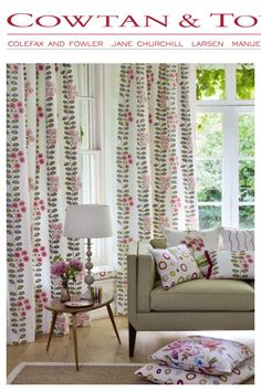 Designer fabric from Couton and Tout available at Jane Hall Design