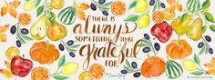 Grateful Autumn Pattern by Corinne Haig