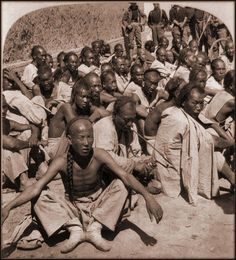 Boxer Prisoners Captured By 6th US Cavalry, Tientsin, China [1901] Underwood & Co